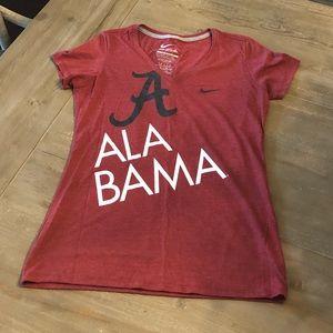 Nike University of Alabama V-Neck Tee - L - NWOT